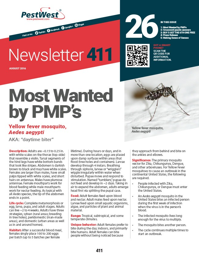 PestWest Newsletter 411 - Issue 26