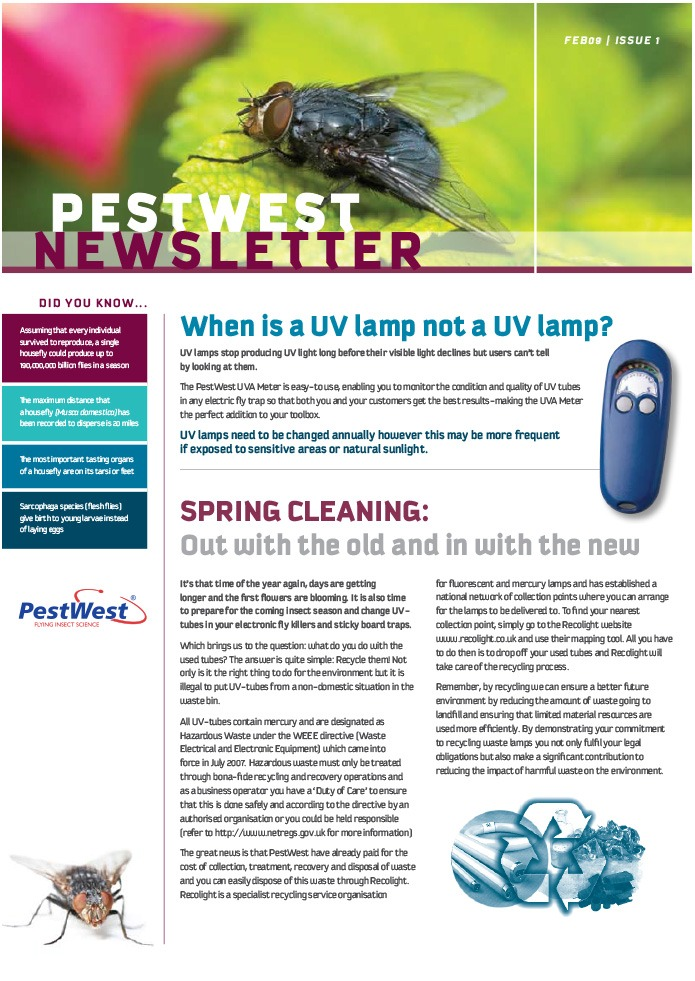 PestWest UK Newsletter - Issue 1