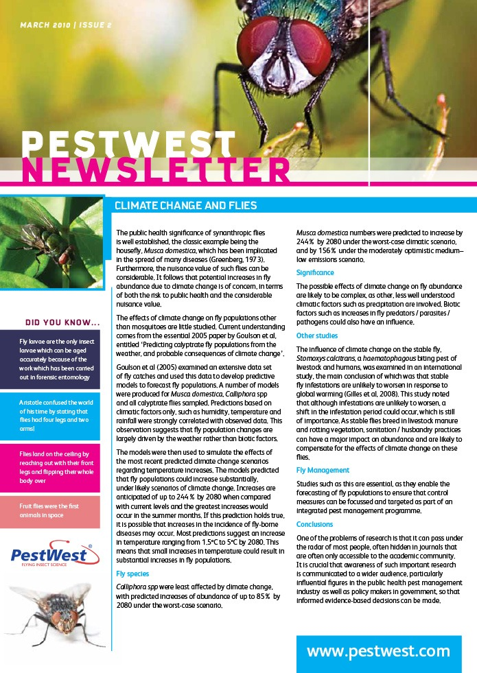 PestWest UK Newsletter - Issue 2